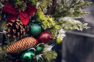 A close up of a christmas tree