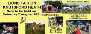 Advert for the Knutsford Lions Heath Event
