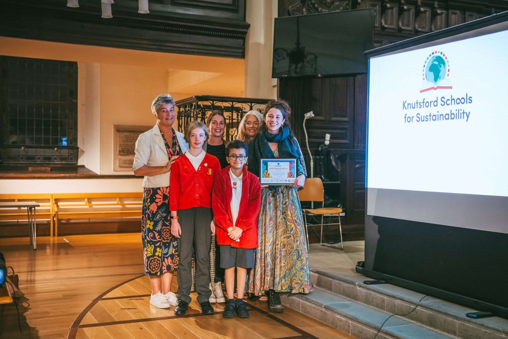 Kanoa Living receiving the Knutsford Schools Sustainability Award